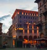 广场Goldoni的里雅斯特 库存图片