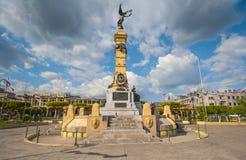 广场Libertad纪念碑在萨尔瓦多 免版税图库摄影