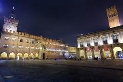 广场Maggiore在波隆纳 免版税库存照片