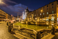 广场navona,罗马,意大利看法  免版税库存照片