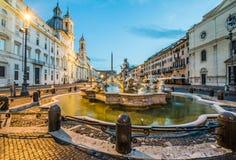 广场navona,罗马,意大利看法  免版税库存图片
