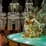 广场Navona,罗马,意大利 库存图片