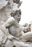 广场Navona, fontana dei Fiumi在Ro的del Bernini 免版税库存照片