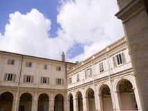 广场Popolo和别墅Borguese庭院在罗马意大利 库存照片