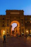 广场Repubblica在老镇佛罗伦萨 图库摄影