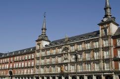 广场Square市长。马德里。西班牙。 库存照片