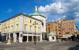 广场Tre Martiri,里米尼,意大利 图库摄影