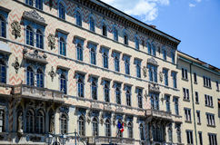 广场Unitàd意大利在的里雅斯特 免版税库存照片