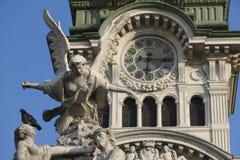 广场Unita在的里雅斯特,意大利 免版税库存照片