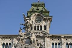 广场Unita在的里雅斯特,意大利 库存图片