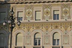 广场Unita在的里雅斯特,意大利 免版税库存图片