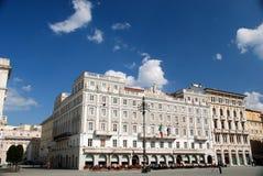 广场Unita的里雅斯特,意大利 免版税库存图片