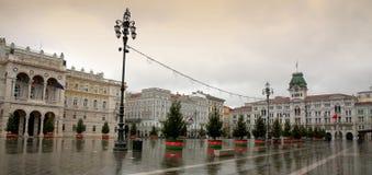 广场Unita的里雅斯特,意大利 免版税库存照片
