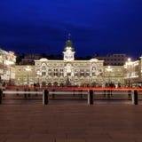 广场Unita d'Italia的里雅斯特,意大利 免版税库存图片
