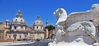 广场venezia。 罗马 库存照片