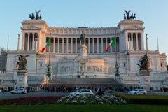 广场Venezia和Vittoriano Emanuele纪念碑 库存照片