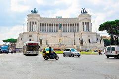 广场Venezia在罗马。 免版税库存图片