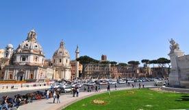 广场Venezia,罗马 图库摄影