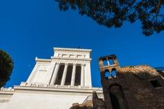 广场Venezia -令人惊讶的罗马,意大利 免版税库存图片
