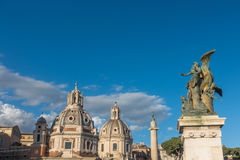 广场Venezia -令人惊讶的罗马,意大利 库存照片