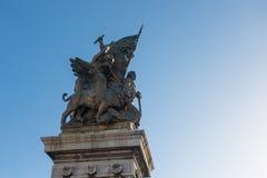广场Venezia -令人惊讶的罗马,意大利 库存图片