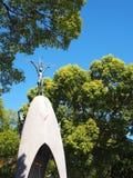 广岛、日本- 11月4,2015 -儿童的和平纪念碑,纪念萨达库佐佐木和原子b的儿童受害者 库存照片