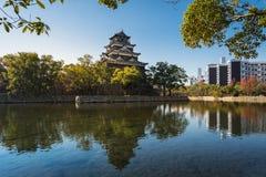 广岛城堡在广岛,日本 免版税图库摄影