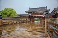 广岛城堡门 免版税库存照片