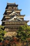 广岛城堡 免版税库存图片