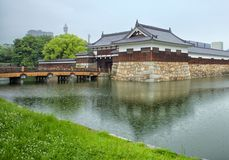 广岛水城堡 库存图片