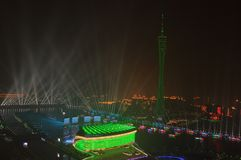 广州中国夜视图  库存图片