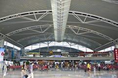 广州南火车站在中国 免版税库存照片