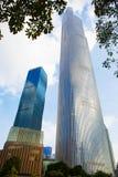 广州周大福金融中心3 免版税库存照片