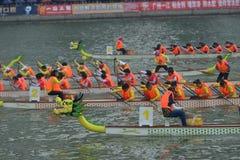 广州国际龙舟应邀比赛 库存图片