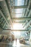 广州图书馆是在广州瓷的一个现代大厦 库存照片