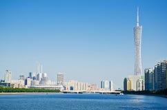广州地平线自白天 库存照片