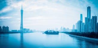 广州地平线 免版税库存图片