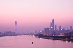 广州地平线 库存照片