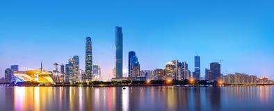 广州市地平线 免版税库存图片