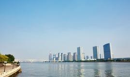 广州市地平线 库存照片