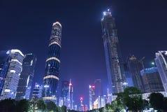 广州市夜视图 库存照片