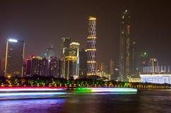 广州市夜 库存照片