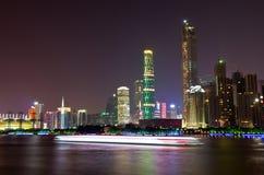 广州市夜 免版税库存图片