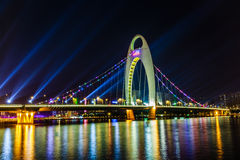 广州市夜 库存图片