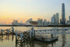 广州市日落风景 库存图片