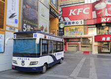 广州市,瓷流动警察局 图库摄影