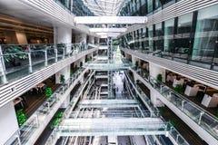 广州新的图书馆风景 免版税库存照片