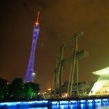 广州新的塔电视 免版税库存图片