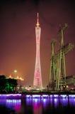 广州新的塔电视 免版税库存照片
