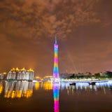 广州晚上场面塔 库存照片